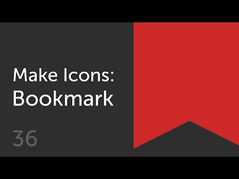 How to Make a Bookmark Icon  | Make Icons 36