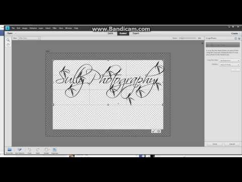 Creating A Custom Watermark - PSE 11 Tutorial