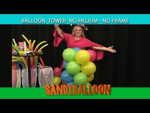 Balloon Column- No Helium, No Frame ~ DIY Tutorial