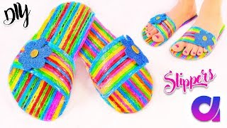 How to make drinking straw slippers at home | Best out of waste | Artkala 244
