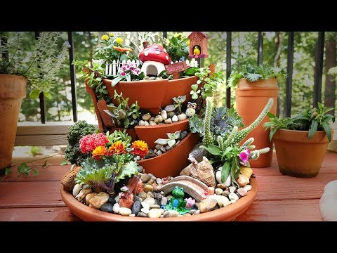How To Make A Fairy Garden w/ Yabani Figurines