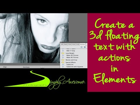 Learn Photoshop Elements 11 - Create 3D floating pictures and Fans using Actions