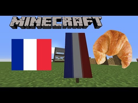 How to make the French Flag in Minecraft!