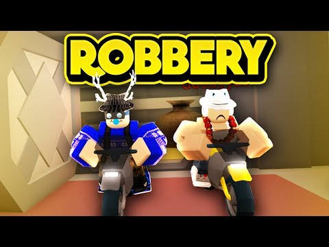 ROBBING THE BANK ON MOTORCYCLES! (ROBLOX Jailbreak)