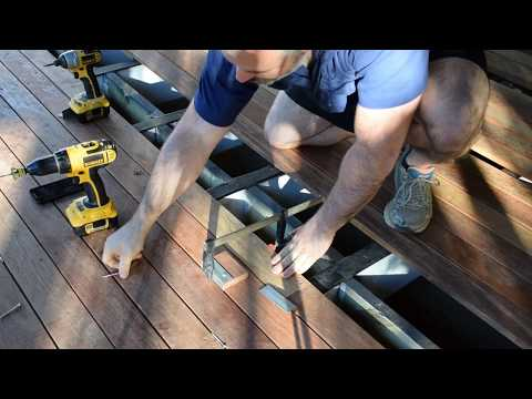 How to Straighten Bent or Bowed Decking Boards, Hardwood Decking, Crooked decking, Kwila