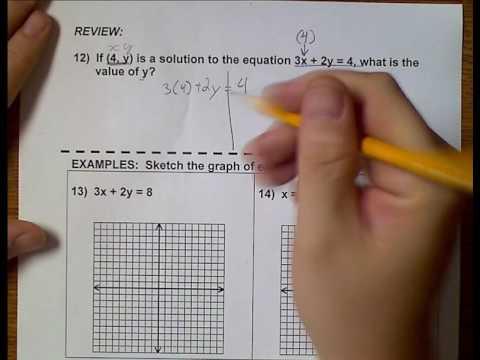 Algebra 1 (Topic 8-6) Interpreting Graphs