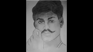 How to draw sketch chandrasekhar azad timelapse .brother s alltech or aman