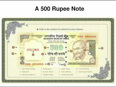 How to identify fake notes of Rs.500 - Netbhet.com