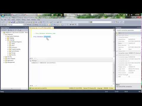 SQL :#2)Drop Database and Table