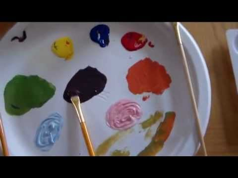 Primary to Secondary Colors Kids Art Lesson