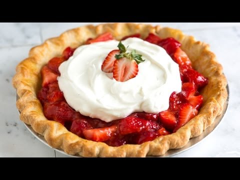 Simple and Fresh Homemade Strawberry Pie Recipe - How to Make Strawberry Pie