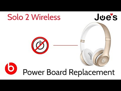 Beats By Dre Beats Headphones Solo 2 Wireless Power Board Replacement Not Powering On