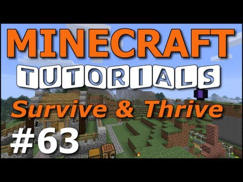 Minecraft Tutorials - E63 Villager Trading (Survive and Thrive Season 4)