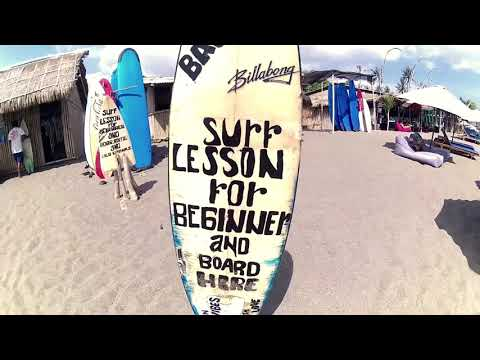 Learning to Surf in Canggu, Bali