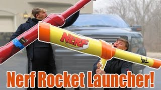 Worlds Largest Nerf Gun Wins - Dude Perfect Giant Nerf Shots