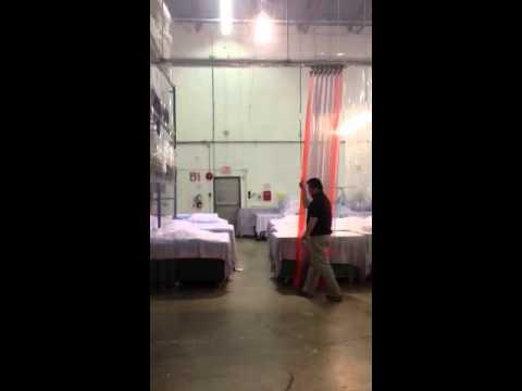 Accordion Curtain for Clean Room Enclosure