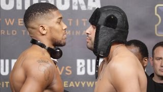 ANTHONY JOSHUA v ERIC MOLINA - OFFICIAL WEIGH IN & HEAD TO HEAD / JOSHUA v MOLINA