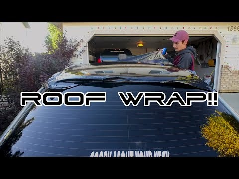 Vinyl Wrapping my Roof for the First Time!!