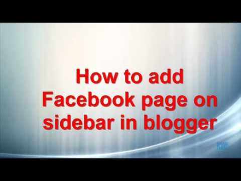 how to add facebook gadget on blogger sidebar