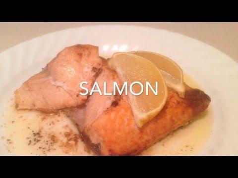 Salmon in the halogen oven (frozen)