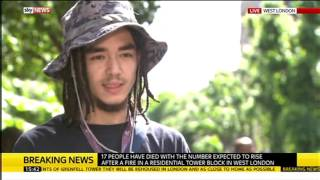 Grenfell Tower Fire: Piki Seku, who swore on BBC News, interviewed on Sky News
