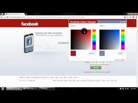 Facebook colour changer Review: Google Chrome extension
