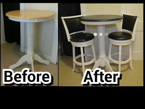 DIY Kitchen Table Makeover (Painting) (HD)