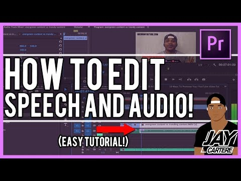 Adobe Premiere Pro CC - How To Cut Out Lines And Words - How To Edit Speech Tutorial