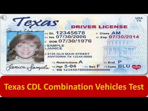 Texas CDL Combination Vehicles Test
