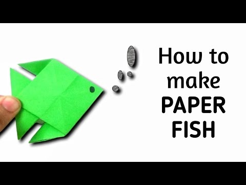 How to make an origami paper fish - 6 | Origami / Paper Folding Craft, Videos and Tutorials.