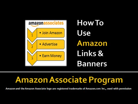 How to Use Amazon Associate Product Links and Banners