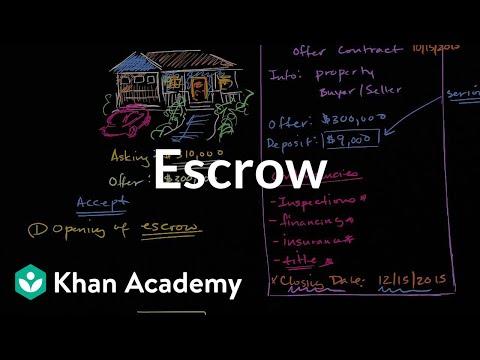 Escrow | Housing | Finance & Capital Markets | Khan Academy
