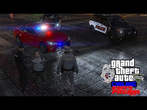 GTA 5 FiveM Roleplay - Rent A Cop Impersonating A Police Officer With A Fake Police Car - KUFFS #180