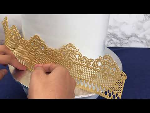 HOW TO MAKE: GOLD EDIBLE CAKE LACE | CAKES BY KASIB