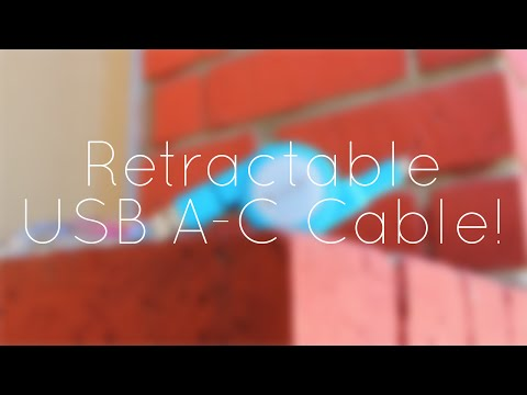 Retractable USB A to USB C Cable!