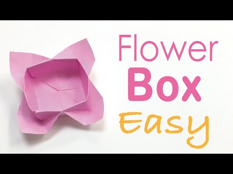 Easy☺︎ Origami Paper Flower Box Tutorial - Origami Kawaii〔#053〕