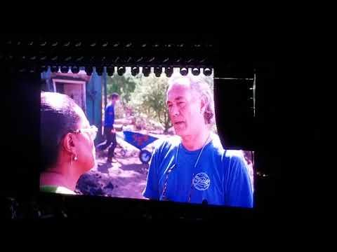 Katy Perry SB County Bowl Oprah Winfrey Montecito Mudslide Tribute to Bucket Brigade