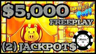 🔒HIGH LIMIT Lock It Link Huff N' Puff (2) JACKPOT HANDPAYS 🔒$50 BONUS ROUND Slot Machine Casino 🔒