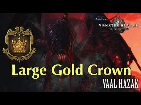 Vaal Hazak - Large Gold Crown Measure - MHW