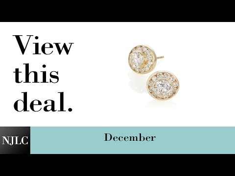 Deal of the Month: Yellow Gold Diamond Halo Earrings
