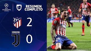 Atlético de Madrid 2-0 Juventus – GOLES Y RESUMEN COMPLETO – IDA OCTAVOS DE FINAL – UEFA Champions L