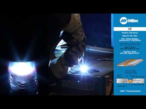 Welding Position 1G - Flat Groove Weld