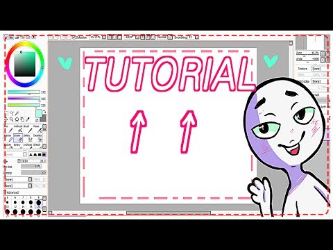HOW TO make a Transparent Background in SAI - TUTORIAL