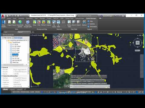Importing geo-referenced images (First preview - AutoCAD) -  Spatial Manager™ (SR)
