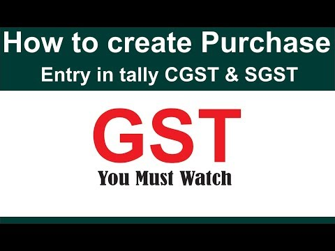How to compute purchase entry with CGST & SGST in tally erp9  6.0
