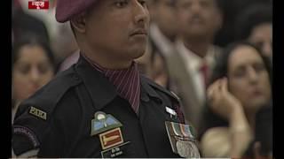 President awards Shaurya Chakra to Naik Bir Singh of 21st Battalion The Parachute Regiment