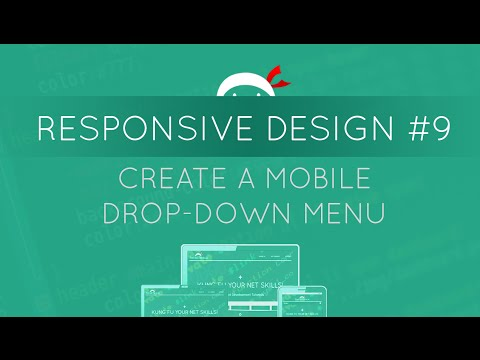 Responsive Web Design Tutorial #9 - Making a Mobile Drop-down Menu