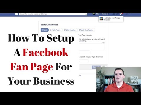 How to setup a Facebook Fan Page / Business Page