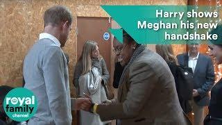 Prince Harry shows Meghan his new handshake