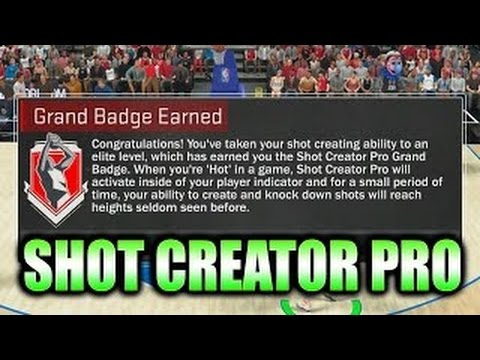 NBA 2K17: THE FASTEST WAY TO GET SHOT CREATOR PRO GRAND BADGE!!